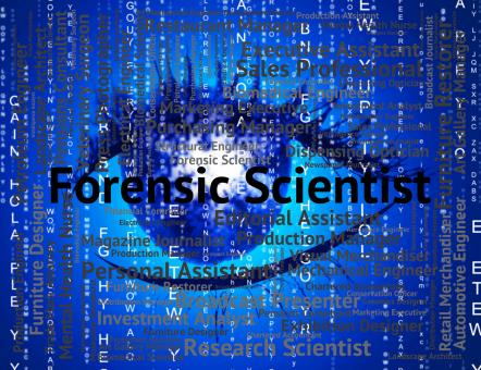 Free Stock Photo of Forensic Scientist Shows Position Scientists And Word