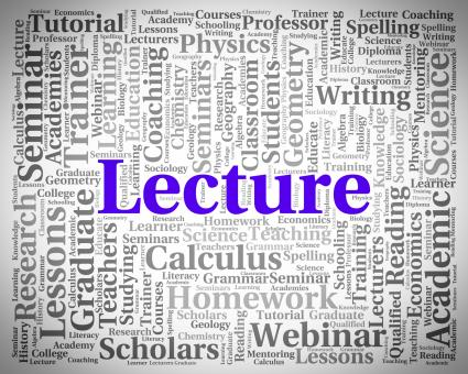 Free Stock Photo of Lecture Word Indicates Discourse Talk And Recitations