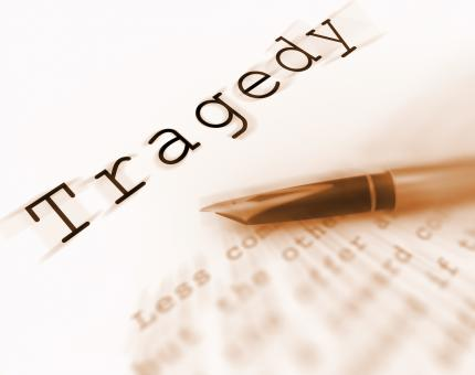 Free Stock Photo of Tragedy Word Displays Catastrophe Misfortune Or Devastation