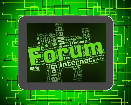 Free Stock Photo of Forum Word Means Social Media And Chat