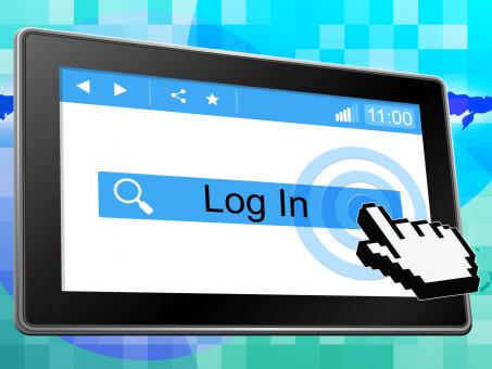 Free Stock Photo of Log In Means World Wide Web And Internet