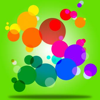 Free Stock Photo of Color Background Indicates Circles Bubble And Orb