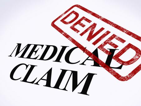 Free Stock Photo of Medical Claim Denied Stamp Shows Unsuccessful Medical Reimbursement