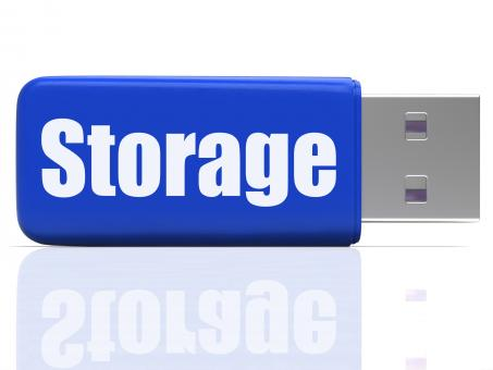 Free Stock Photo of Storage Pen drive Shows Data Backup Or Warehousing