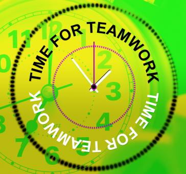 Free Stock Photo of Time For Teamwork Represents Networking Group And Organized