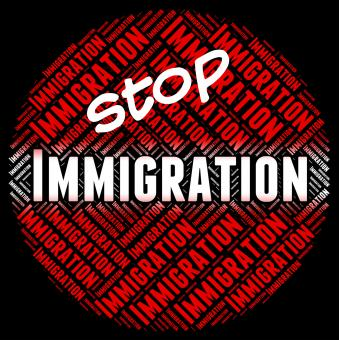 Free Stock Photo of Stop Immigration Represents Immigrants Immigrate And Stopping