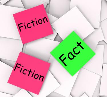 Free Stock Photo of Fact Fiction Post-It Notes Mean Correct Or Falsehood