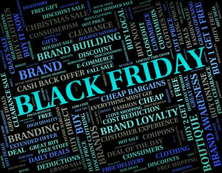 Free Stock Photo of Black Friday Indicates Reduction Discounts And Promotional