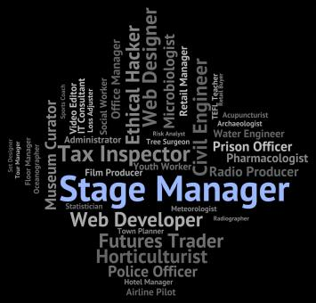 Free Stock Photo of Stage Manager Means Live Event And Career