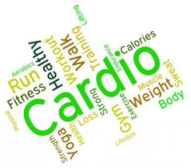 Free Stock Photo of Cardio Word Indicates Get Fit And Exercise
