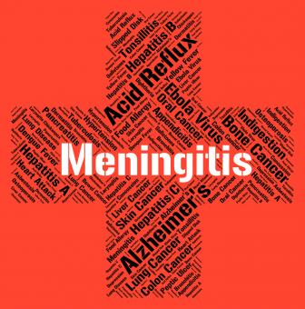 Free Stock Photo of Meningitis Word Indicates Ill Health And Afflictions