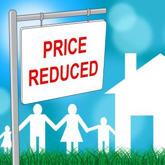 Free Stock Photo of House Price Reduced Indicates Clearance Homes And Bargain