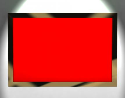 Free Stock Photo of TV Monitor With Red Blank Copyspace Or Copy Space