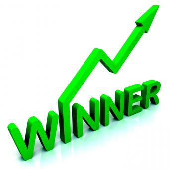 Free Stock Photo of Winner Word Shows Successes And Victory