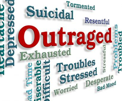 Free Stock Photo of Outraged Word Means Words Anger And Enrage