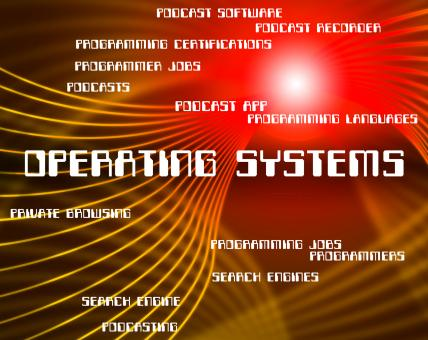 Free Stock Photo of Operating Systems Shows Pc Technology And Text