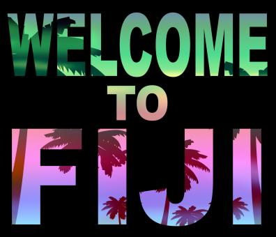 Free Stock Photo of Welcome To Fiji Indicates Fijian Vacations And Invitation