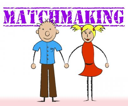 Free Stock Photo of Matchmaking Couple Indicates Relationship Togetherness And Matchmake