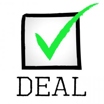 Free Stock Photo of Tick Deal Means Hot Deals And Bargain