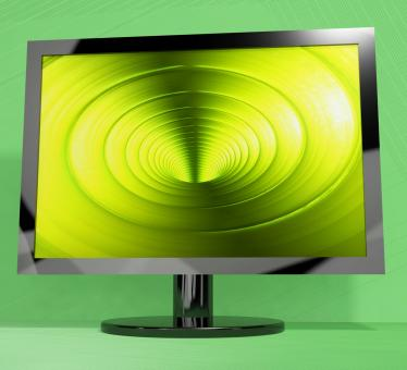Free Stock Photo of TV Monitor With Vortex Picture Representing High Definition Television
