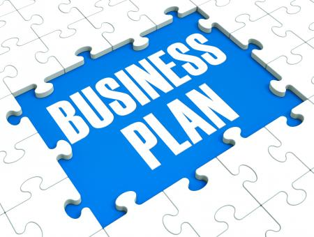 Free Stock Photo of Business Plan Puzzle Shows Business Strategies
