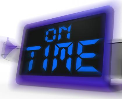 Free Stock Photo of On Time Digital Clock Shows Punctual And Reliable