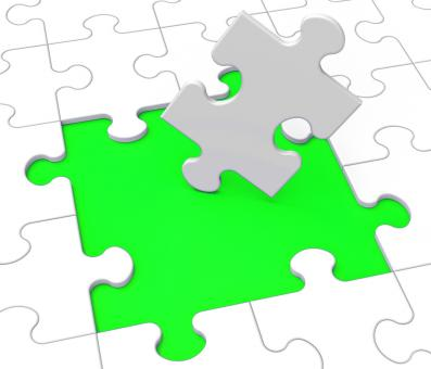 Free Stock Photo of Missing Puzzle Pieces Shows Problems