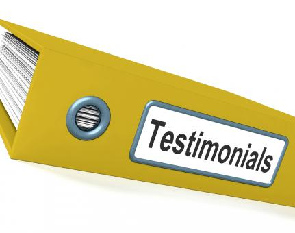 Free Stock Photo of Testimonials File Showing Recommendations And Tributes