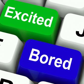 Free Stock Photo of Excited Bored Keys Show Exciting And Boring Websites