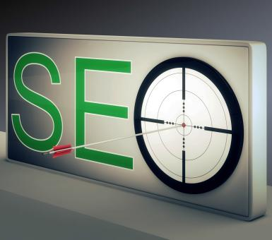 Free Stock Photo of Seo Target Promotes Website And Internet Marketing