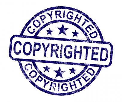 Free Stock Photo of Copyrighted Stamp Showing Patent Or Trademark