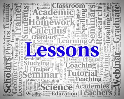 Free Stock Photo of Lessons Word Indicates Seminar Words And Classes