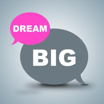 Free Stock Photo of Dream Big Shows Dreamer Vision And Aspiration