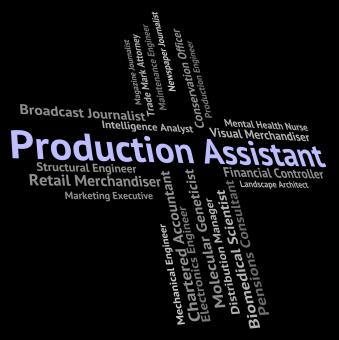 Free Stock Photo of Production Assistant Represents Helper Jobs And Job