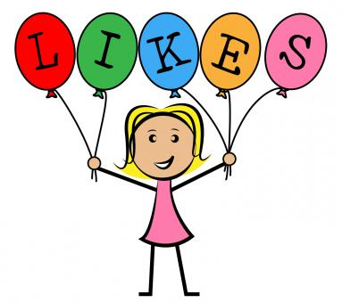 Free Stock Photo of Likes Balloons Indicates Social Media And Kids