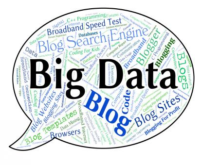 Free Stock Photo of Big Data Indicates Huge Text And Large