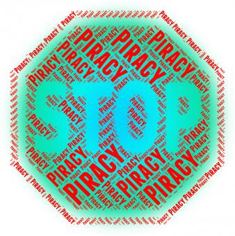 Free Stock Photo of Stop Piracy Indicates Copy Right And Control