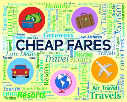 Free Stock Photo of Cheap Fares Represents Sale Discount And Offer