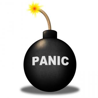Free Stock Photo of Panic Warning Represents Hysteria Anxiety And Terror