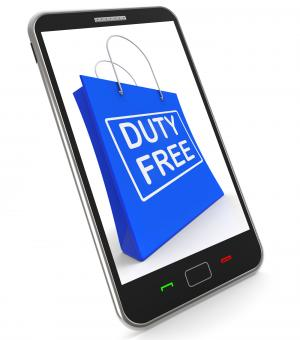 Free Stock Photo of Duty Free on Shopping Bags Shows Tax Free Purchases