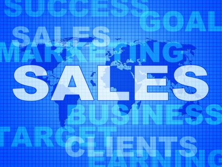 Free Stock Photo of Sales Words Represents Corporation Sell And Promotion