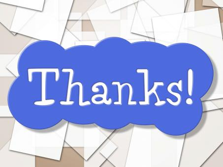Free Stock Photo of Sign Thanks Shows Display Message And Grateful