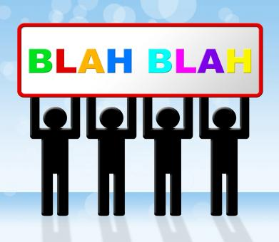 Free Stock Photo of Blah Speak Represents Dialog Conversation And Dialogue