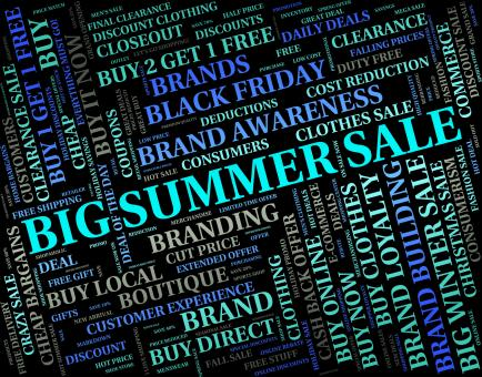 Free Stock Photo of Big Summer Sale Represents Huge Sales And Bargain