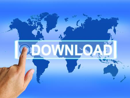 Free Stock Photo of Download Map Shows Downloads Downloading and Information Transfer