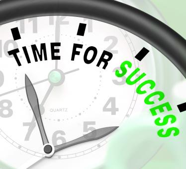 Free Stock Photo of Time For Success Message Shows Victory And Winning
