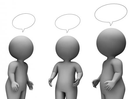 Free Stock Photo of Speech Bubble Shows Render Chatting And Speaking 3d Rendering