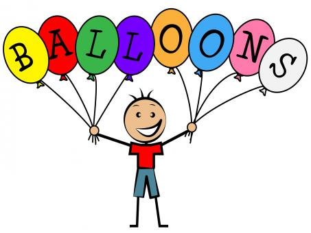 Free Stock Photo of Balloons Boy Means Child Celebrate And Kid