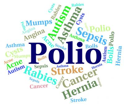 Free Stock Photo of Polio Word Means Ill Health And Ailment