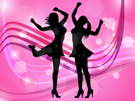 Free Stock Photo of Disco Women Means Adult Dancing And Celebration